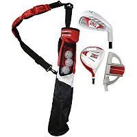 Merchants of Golf Red Zone Jr. 3-Club Right Hand Golf Club & Bag Set - Youth