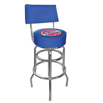 Detroit Pistons Padded Swivel Bar Stool with Back
