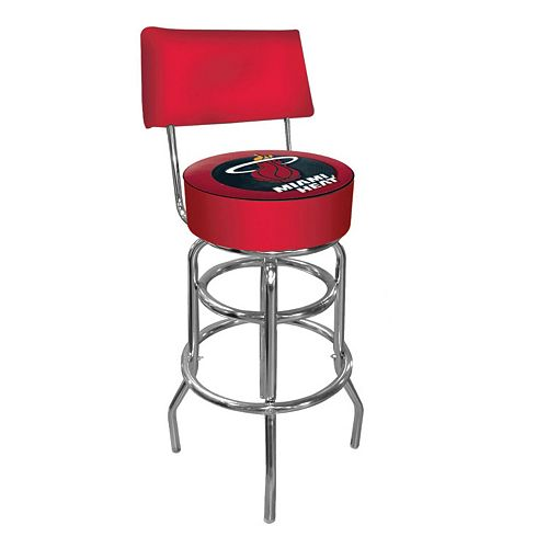Miami Heat Padded Swivel Bar Stool with Back