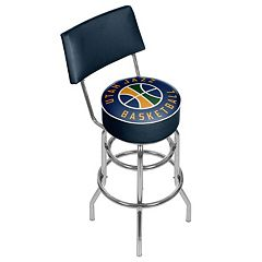Utah Jazz Padded Swivel Bar Stool with Back