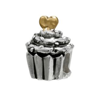 Individuality Beads 14k Gold Over Silver and Sterling Silver Cupcake Bead