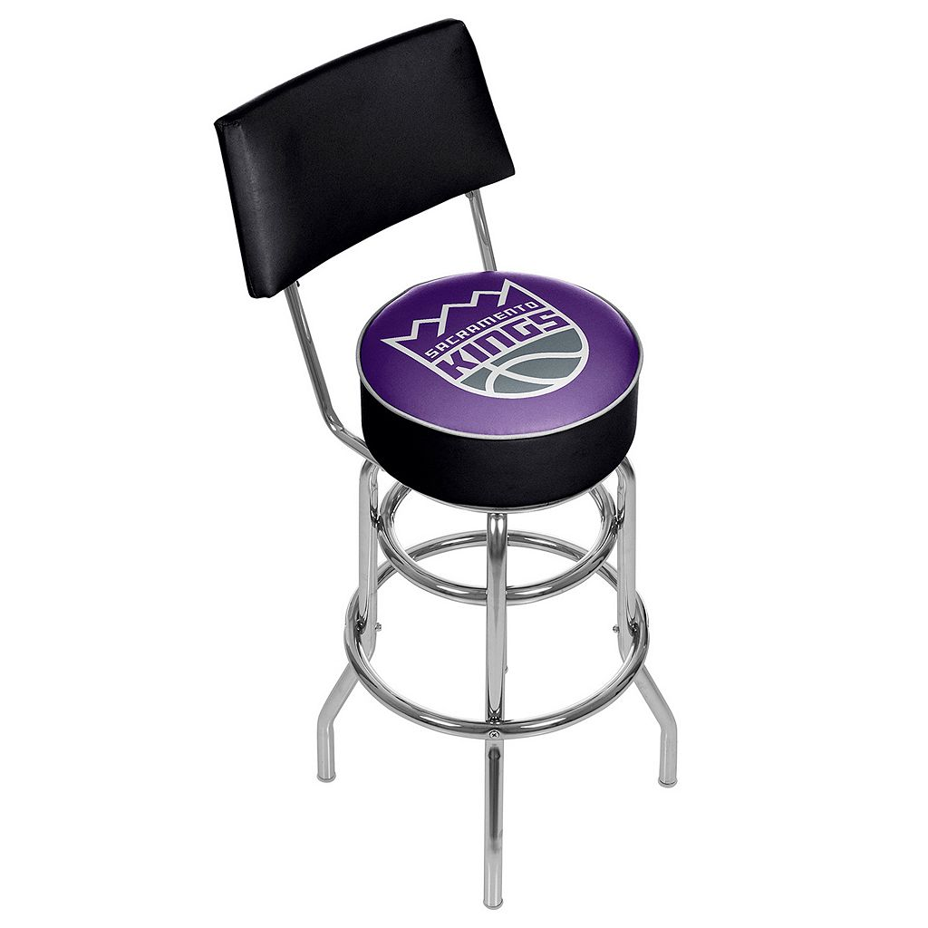 Sacramento Kings Padded Swivel Bar Stool with Back
