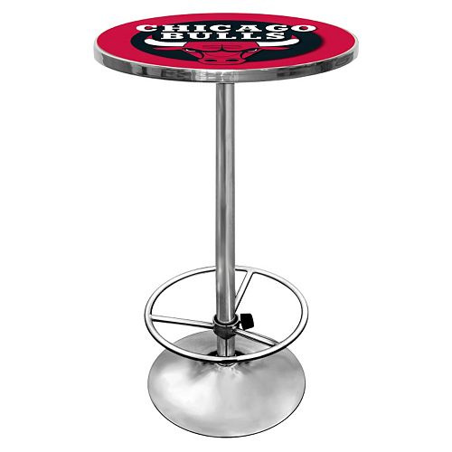 Chicago Bulls Chrome Pub Table