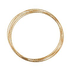 14k Gold Over Silver Interlocking Bangle Bracelet