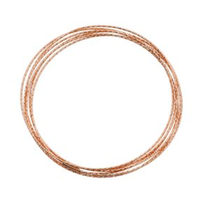 14k Rose Gold Over Silver Interlocking Bangle Bracelet