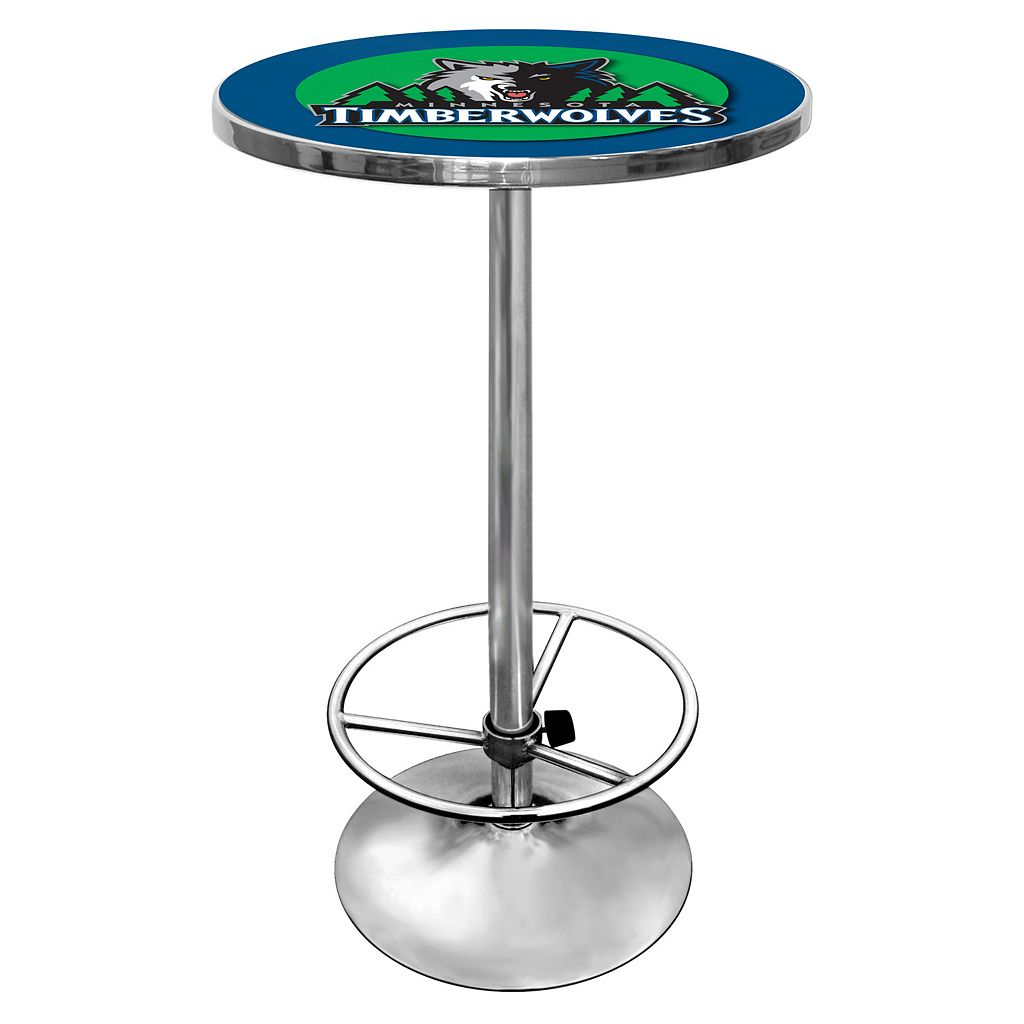 Minnesota Timberwolves Chrome Pub Table