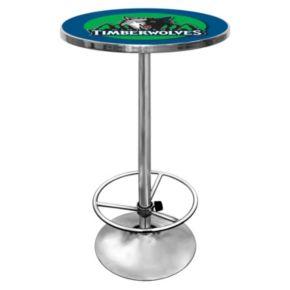 Minnesota Timberwolves Chrome Pub Table