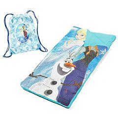 Disney's Frozen Elsa, Anna & Olaf Sleeping Bag & Sackpack Slumber Set
