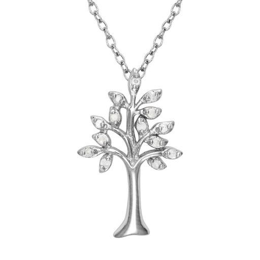 Sterling Silver 1/10-ct. T.W. Diamond Tree of Life Pendant