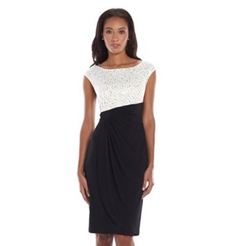 Women's Connected Apparel Mixed-Media Dress