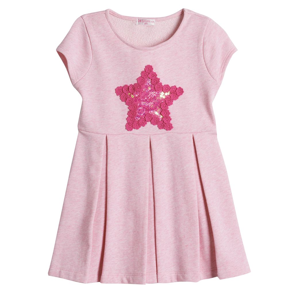 Design 365 Lace Star Skater Dress - Toddler