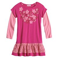 Design 365 Floral Applique Dress - Toddler