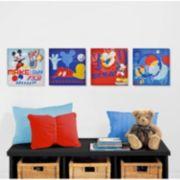 Disney Mickey Mouse & Friends 4-pk. Wall Art