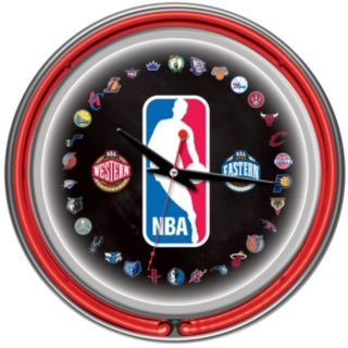 NBA Chrome Double-Ring Neon Wall Clock