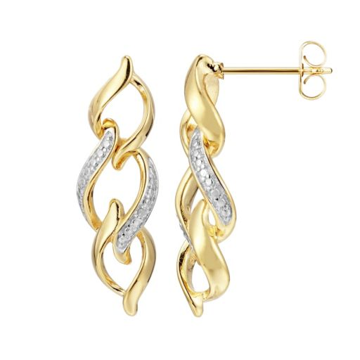18k Gold Over Silver Drop Earrings