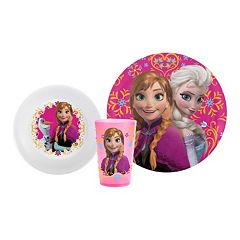 Zak Designs Disney Frozen Elsa & Anna 3 pc Melamine Kid's Place Setting