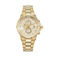 Citizen Eco-Drive Nighthawk Crystal Stainless Steel Chronograph Watch - FB3002-53P