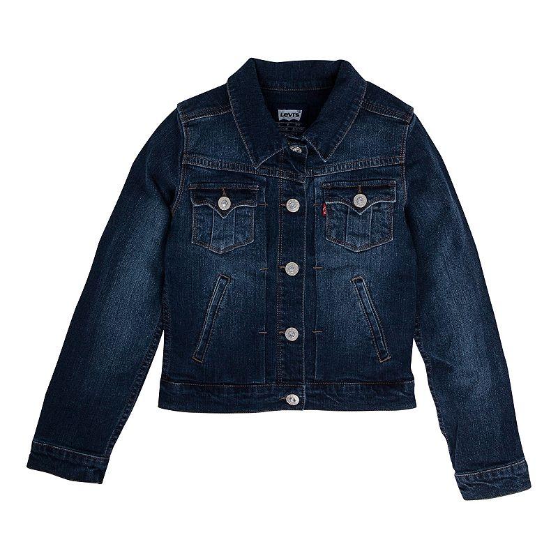 Levi's Trucker Jacket - Girls 7-16 Size MEDIUM (Blue)