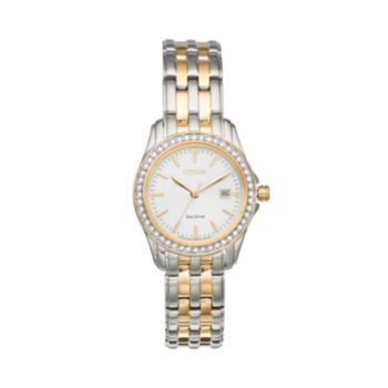 Citizen Women's Eco-Drive Silhouette Two Tone Stainless Steel Watch - EW1908-59A