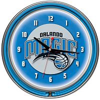 Orlando Magic Chrome Double-Ring Neon Wall Clock