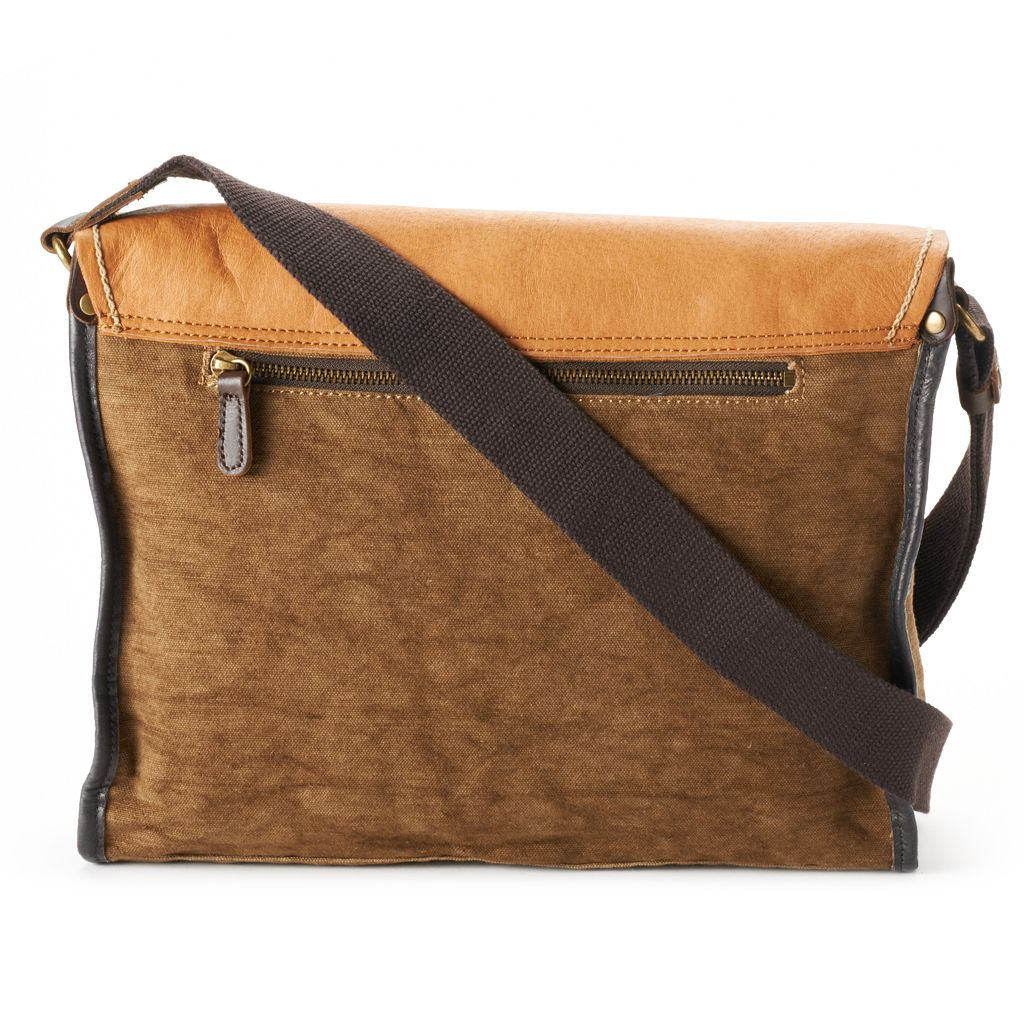 The Same Direction Birch Leather Messenger Bag