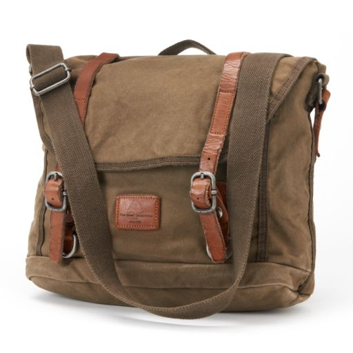The Same Direction Military-Inspired Leather Messenger Bag