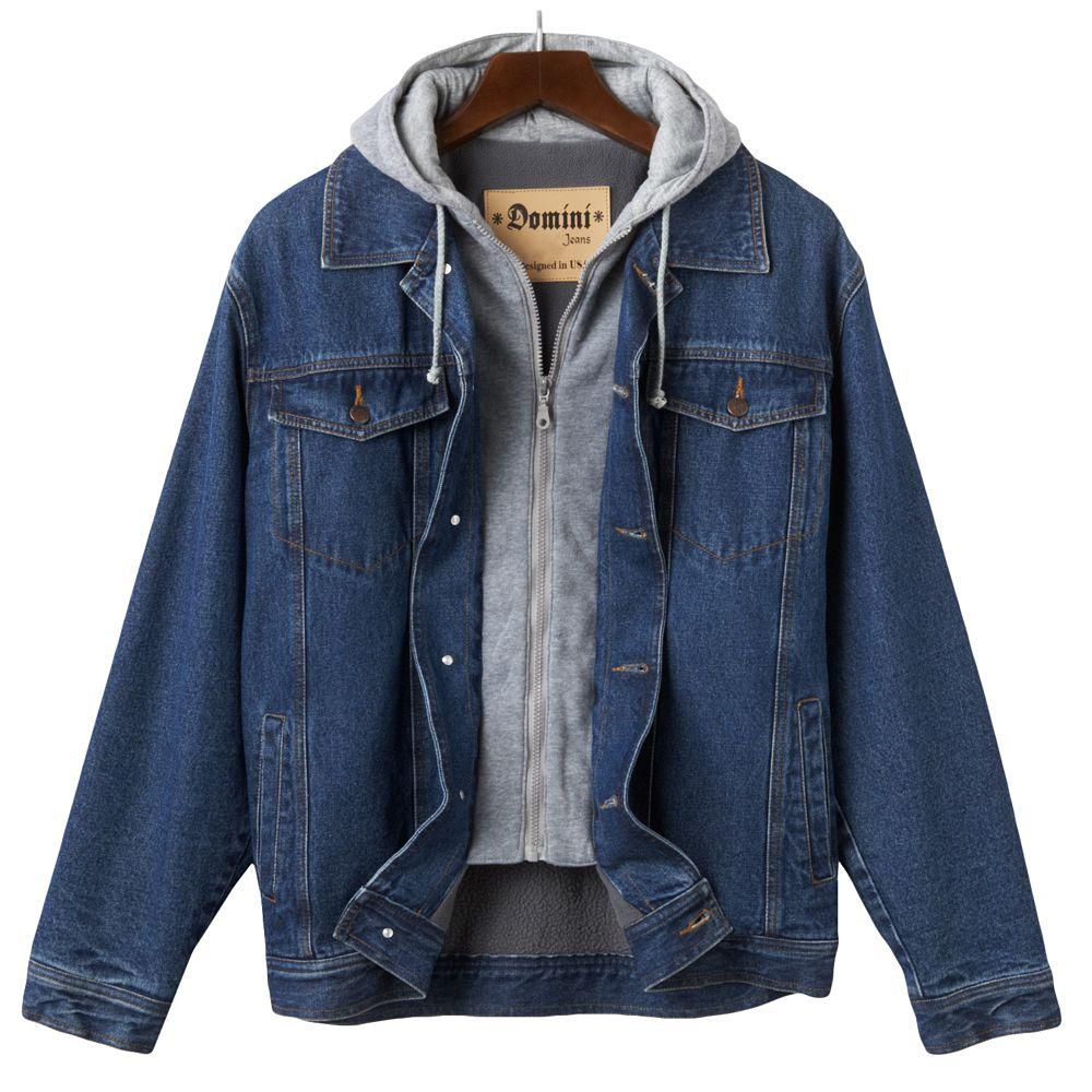 Big & Tall Domini Denim Hooded Jacket