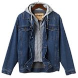 Big & Tall Domini Denim Hooded Jacket