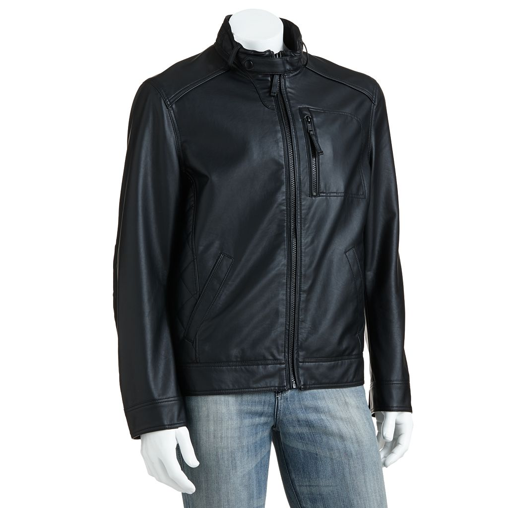 Men's SONOMA Goods for Life™ Ribbed Faux-Leather Jacket