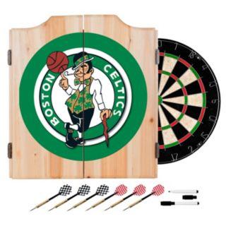 Boston Celtics Wood Dart Cabinet Set