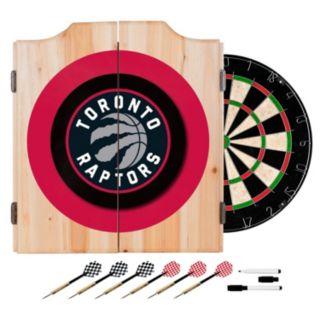 Toronto Raptors Wood Dart Cabinet Set