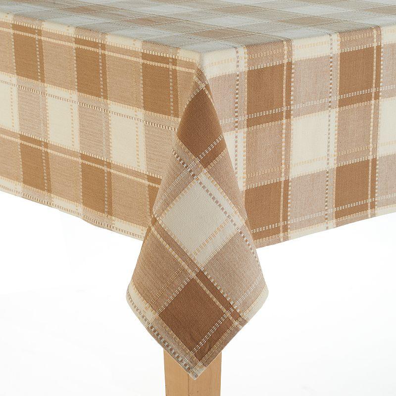 Food Network Cascina Plaid Cotton Tablecloth - 60'' x 84''