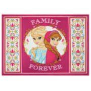 Disney Frozen Elsa and Anna Heart Panel Rug - 31 1/2'' x 44''