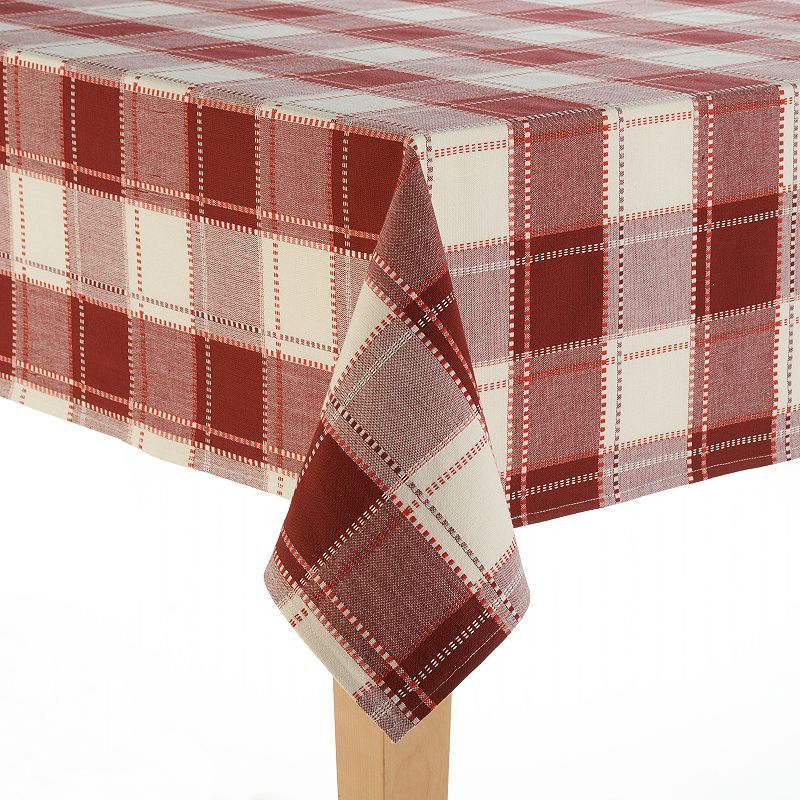 Food Network Cascina Plaid Cotton Tablecloth - 70'' Round