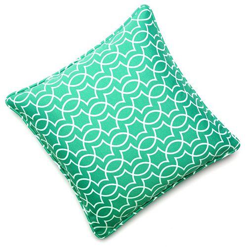 Edie Inc. Geo Trellis Indoor Outdoor Decorative Pillow - 20'' x 20''