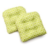 Edie Inc. Geo Trellis Indoor Outdoor 2-pk. Contour Chair Pads