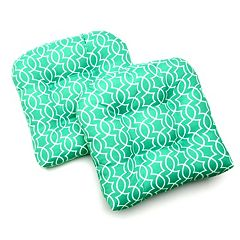 Edie Inc. Geo Trellis Indoor Outdoor 2 pkContour Chair Pads