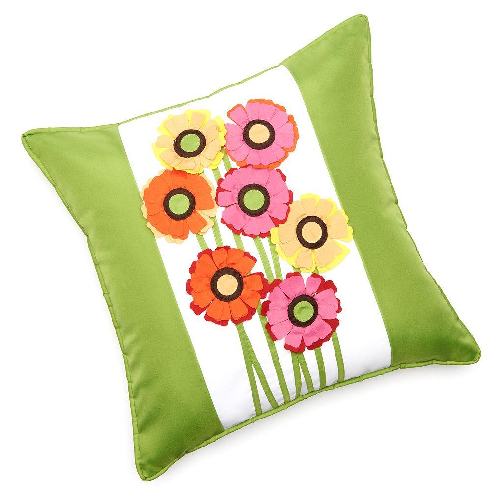Edie, Inc. Gerber Daisy Indoor Outdoor Decorative Pillow