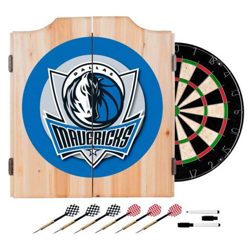 Dallas Mavericks Wood Dart Cabinet Set