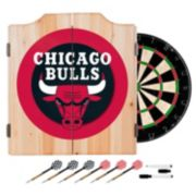 Chicago Bulls Wood Dart Cabinet Set