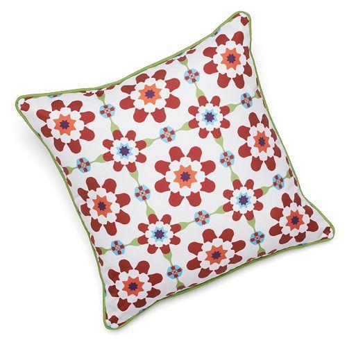 Edie, Inc. Floral Indoor Outdoor Decorative Pillow