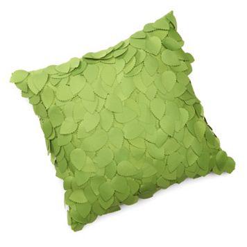 Edie, Inc. Dimensional Ivy Indoor Outdoor Decorative Pillow