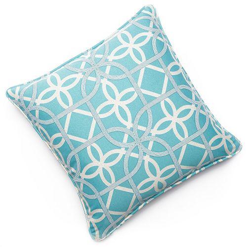 Edie Inc. Geo Loop Indoor Outdoor Decorative Pillow - 20'' x 20''
