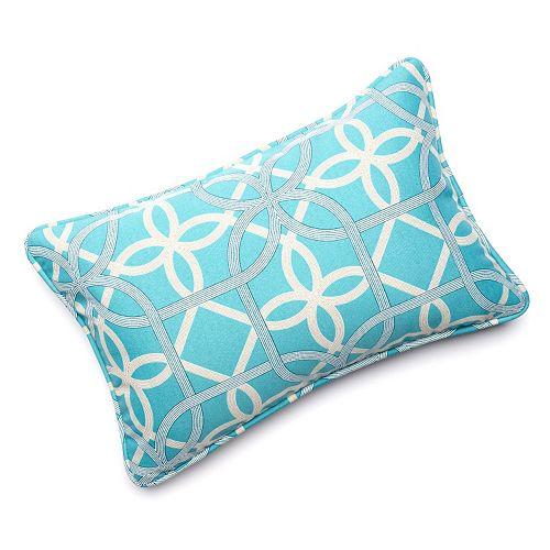 Edie Inc. Geo Loop Indoor Outdoor Decorative Pillow - 13'' x 20''