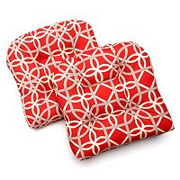 Edie Inc. Geo Loop Indoor Outdoor 2-pk. Contour Chair Pads