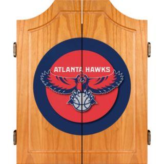Atlanta Hawks Wood Dart Cabinet Set