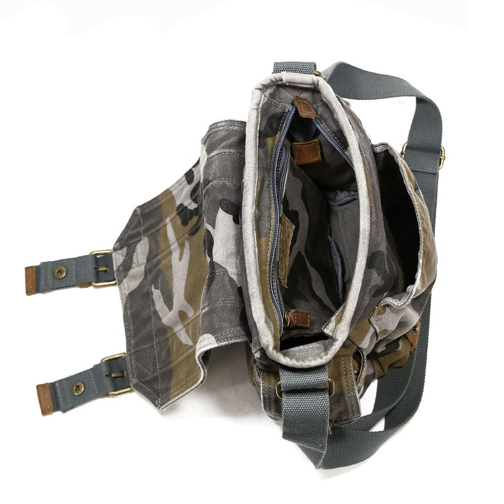 The Same Direction Military-Inspired Leather Crossbody Bag