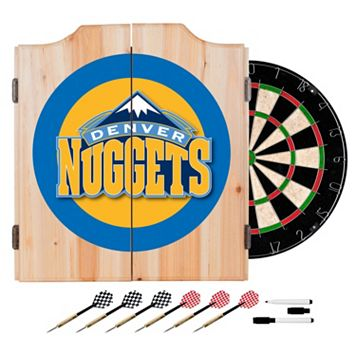 Denver Nuggets Wood Dart Cabinet Set