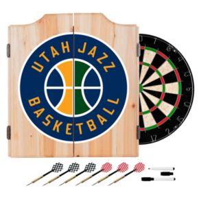 Utah Jazz Wood Dart Cabinet Set