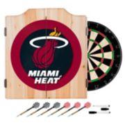 Miami Heat Wood Dart Cabinet Set